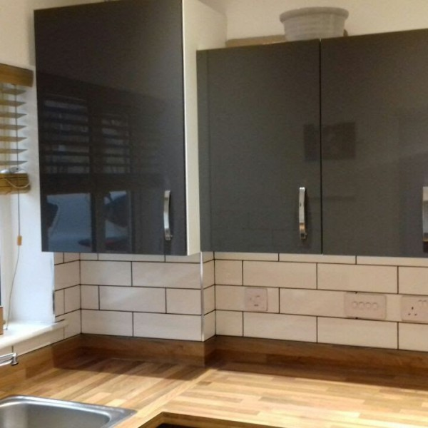 Kitchen splash back tiling - Epsom