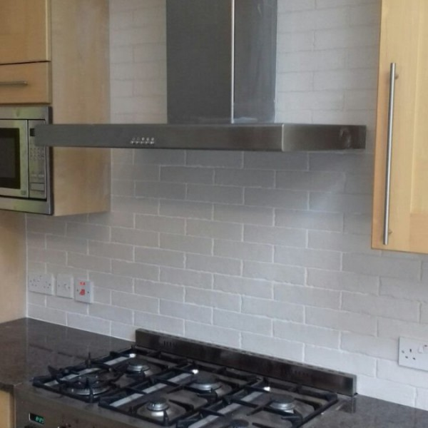 Kitchen splash back tiling - Surbiton